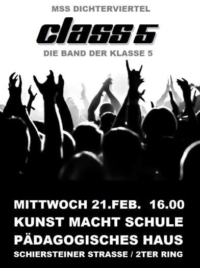 2018 Die Class 5 Band Plakat